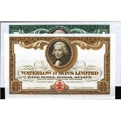 Waterlow & Sons LTD. Ad Notes