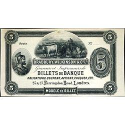 Bradbury, Wilkinson & Co, Ltd. Spanish Ad Note