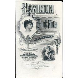 New York, NY. U.S. Hamilton BNC Advertising Sheet