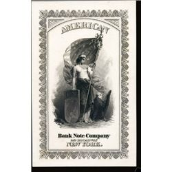 New York, NY. U.S. American BNC Advertising Card