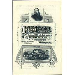 Chicago, IL. U.S. Western BNC Advertising Sheet -