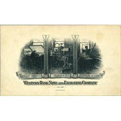 Western BNC Advertising Trade Card Spider Press