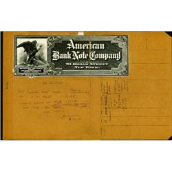 American Bank Note Co. Proof Advertising Sign
