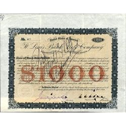 St.Louis Bank Note Company Issued $1000 Bond