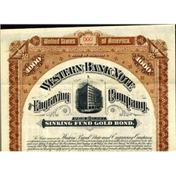 Western Bank Note and Engraving Co. Bond