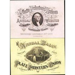 Annual Ball of Plate Printers Union Invitation