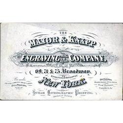 U.S. The Major & Knapp Advertising Business Card
