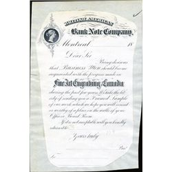 British American BNC Proof Ad Letter