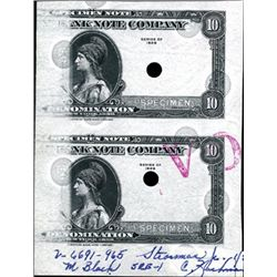 U.S. American Bank Note Co. Tyvek Specimen Note.