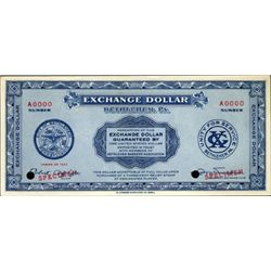 PA. U.S. Exchange Dollar, Bethlehem, PA.