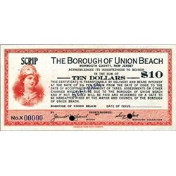 The Borough of Union Beach Depression Scrip