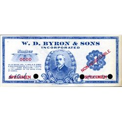 MD.  W.D. Bryon & Sons, Inc. Depression Scrip