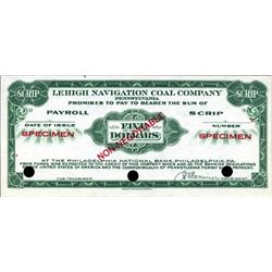 Lehigh Navigation Coal Company Depression Scrip