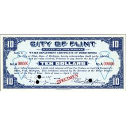 Flint, MI.  City of Flint Depression Scrip (3)