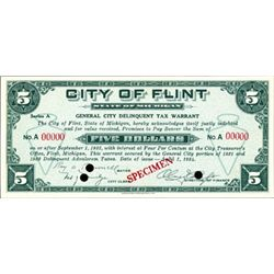 Flint, MI. City of Flint Depression Scrip (2)