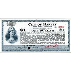 Harvey, IL. U.S. CIty of Harvey Depression Scrip.