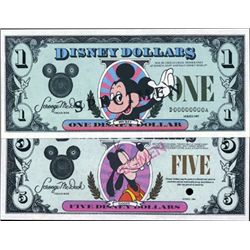 U.S. Disney Dollar Specimens.