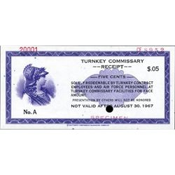 U.S. Turnkey Commissary Receipt.