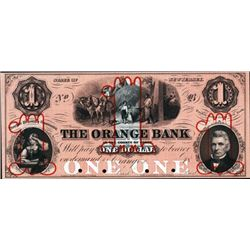 The Orange Bank - Proof Obsolete Banknote