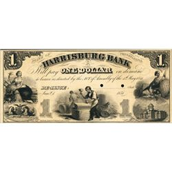 PA. The Harrisburg Bank Proof Obsolete Banknote