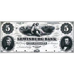 PA. The Lewisburg Bank Proof Obsolete Banknote