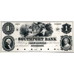 CT. Southport Bank Obsolete Banknote Proof