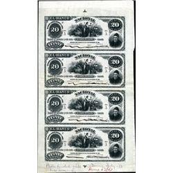 Argentina El Banco Nacional Uncut Proof Sheet