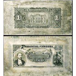 Argentina Banco Prov. de Cordoba Printing Plates