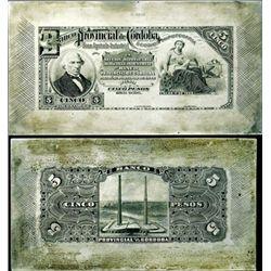 Argentina. Banco Prov. de Cordoba Printing Plates