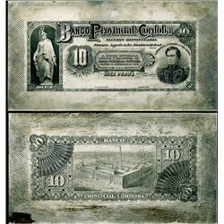Argentina. Banco Prov.de Cordoba Printing Plate