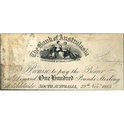 Australia . The Bank of Australasia Proof Banknote