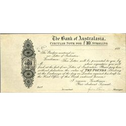 The Bank of Australasia Proof LC Check