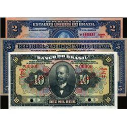 Brazil Specimen Banknote Assortment (5).