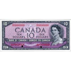 "Bank of Canada 1954 ""Devil's Face"" $10 Specimen"