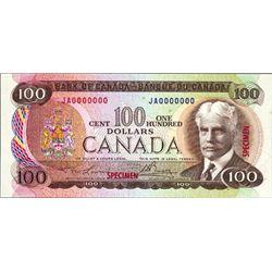 Ottawa. Canada Bank of Canada Specimen Banknote.