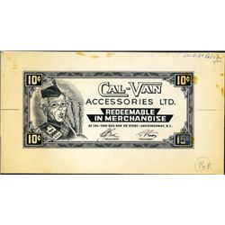 Cal-Van 10 Cents Scrip Note Model and Artwork
