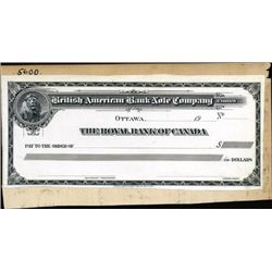 British American Bank Note Co. Proof Check