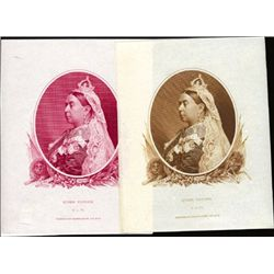 Queen Victoria Proofs in 2 Different Colors