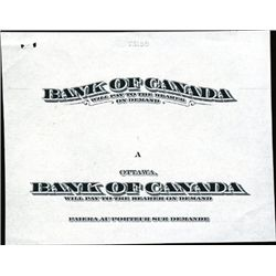 Bank of Canada 1935 Issue Proof Titles