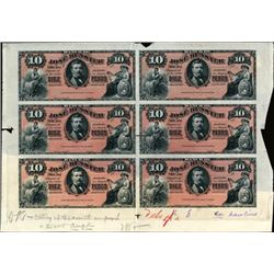 Chile Banco De Jose Bunster Uncut Proof Sheet.