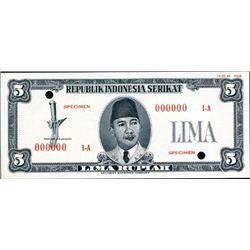 Republik Indonesia Serikat Essay Specimen Banknote