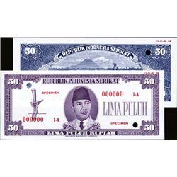 Republik Indonesia Serikat Essay Banknote Set