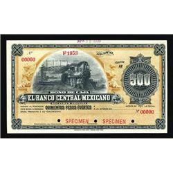 Mexico Bono De Caja. El Banco Central Mexicano.