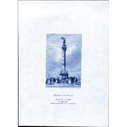 Mexico Statue of Victory Proof Vignettes (5)