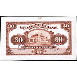 Netherlands Indies De Javasche Bank.