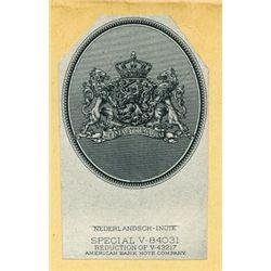 Netherlands Indies Banknote Proof Vignettes