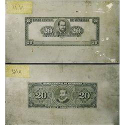Banco Central De Nicaragua Unique Printing Plates