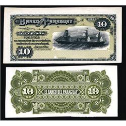 El Banco Del Paraguay Proof Banknote P-S128, 10 P