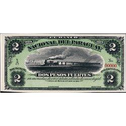 El Banco Nacional Del Paraguay Proof P-S146, 2 P.