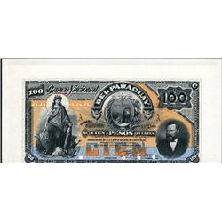 El Banco Nacional Del Paraguay Proof P-S151, 100P